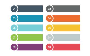 Fototapeta Template infographics ,bullet list for diagram data elements