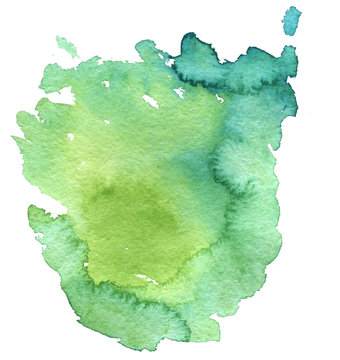 watercolor green background, paint stain