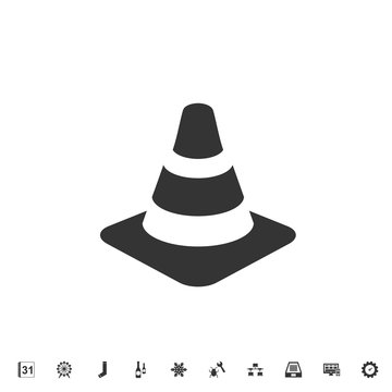 traffic cone icon vector illustration for graphic design and websites
