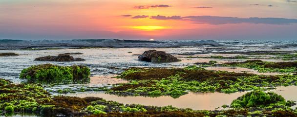 Sunset view on  Batu Bolong Beach, Bali