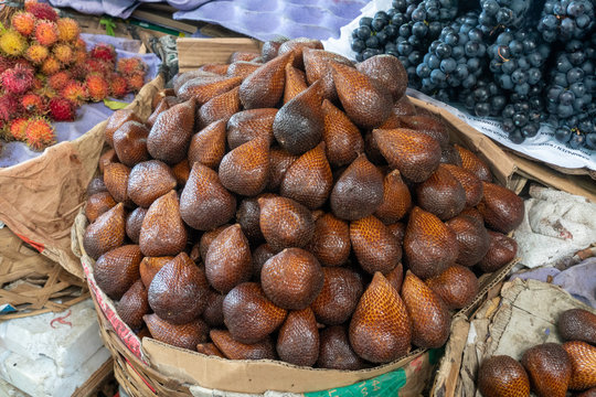 Snake Fruit from Bali Indonesia in Market