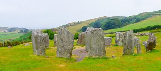 Panorama Dromberg Stone Circle Ireland