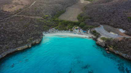 Aerial view over area Knip on the western side of Curaçao/Caribbean /Dutch Antilles