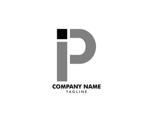 Initial Letter IP Logo Template Design