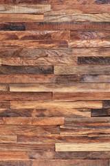 Pattern. Wooden mosaic wall. Mosaic of old wooden slats.