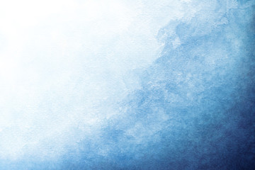 Fototapeta Blue azure turquoise abstract watercolor background for textures backgrounds and web banners design obraz