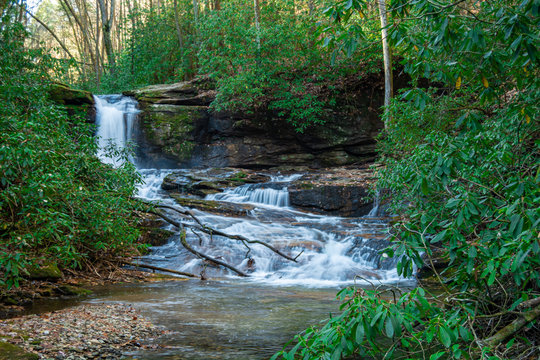 Waterfall at Raven Cliff Falls near Atlanta Georgia