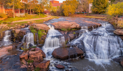 Canvas Prints Forest river Greenville Falls