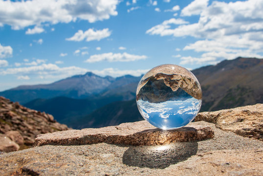 Glass Ball in Rocky Mountains