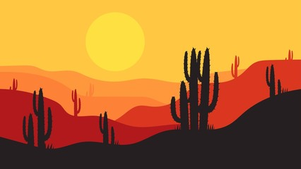 Keuken foto achterwand Grijze traf. simple desert landscape background design, for landing pages, webs, posters, banners, and others