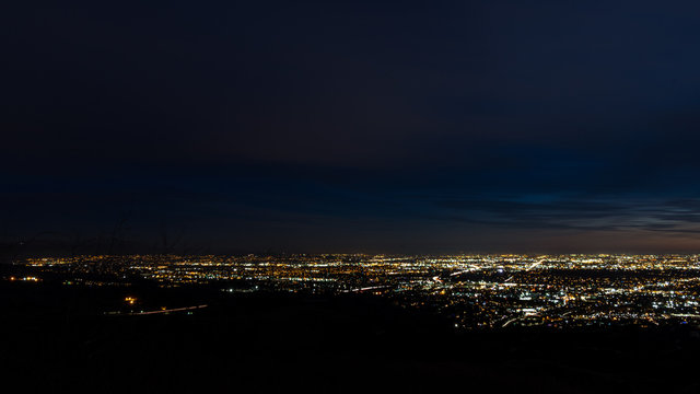 An elevated view of Brea and La Habra California