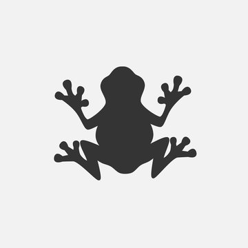 frog icon vector illustration for graphic design and websites