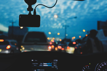 Fotomurales - traffic jam on urban road