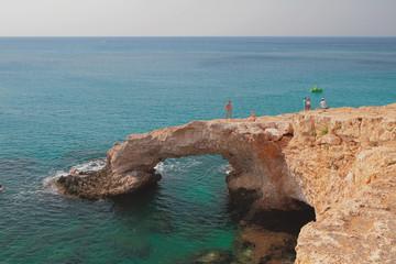 """Natural stone arch """"Love Bridge"""". Agia Napa, Cyprus"""