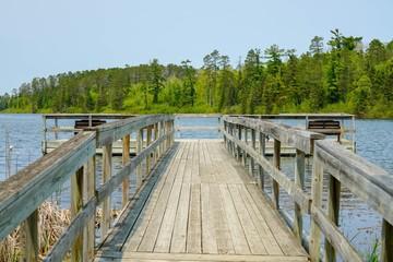 Fishing dock at Lake Itasca