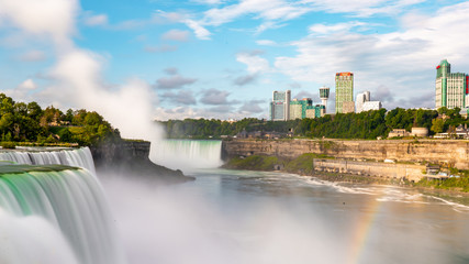 Photo sur cadre textile Buffalo Niagara Falls on America side in the morning with clear sky , Buffalo , United States of America
