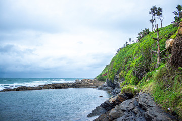 Overlooking the Indian Ocean from Chaka's Rock Tidal Pool in Ballito, South Africa