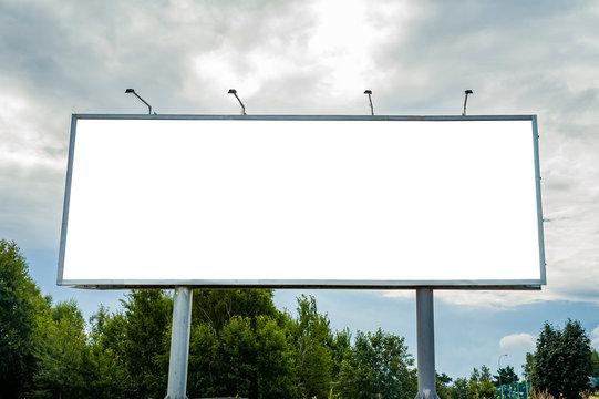 Huge billboard mockup in the park