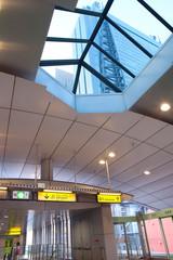 Tokyo, Shimbashi district, Japan - Shimbashi station, platform for Yurikamome monorail line.