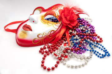 Background for Mardi gras or Fat tuesday with masquerade mask