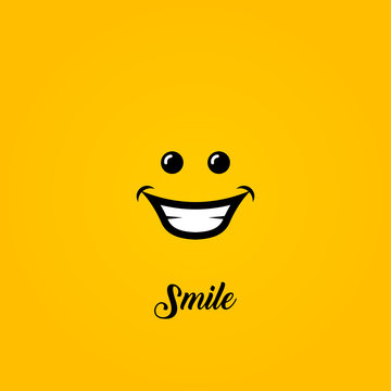 Smile Logo For Banner Design and Elegant Template