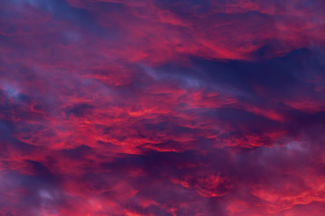 Türaufkleber Hochrote Red clouds - beautiful colorful sunset