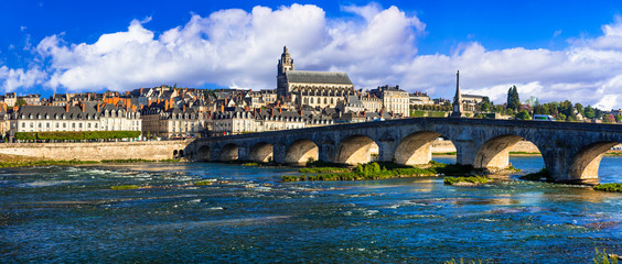 Landmarks and travel in France. Loire valley, medieval town Blois