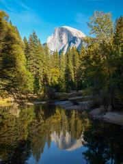 Half Dome mit Spiegelung im Yosemite Nationalpark