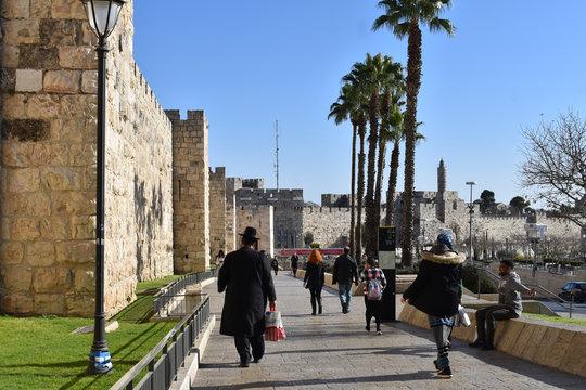 Holy Land, Jerusalem walls, Hold City, Jaffa Gate
