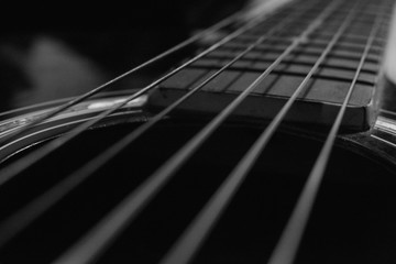 close up of guitar acoustic