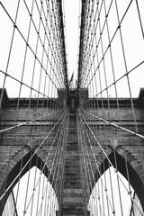 Spoed Fotobehang Brooklyn Bridge Brooklyn Bridge B+W
