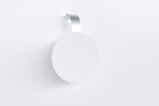 Plastic white wobbler mockup.