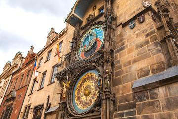 Wall Murals Prague a Famous Prague chimes. Prague Astronomical Clock