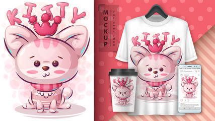 Princess kitty poster and merchandising