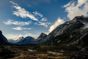 Majestic terrain landscape in mountain range