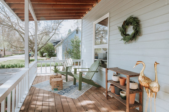 Serene Front Porch