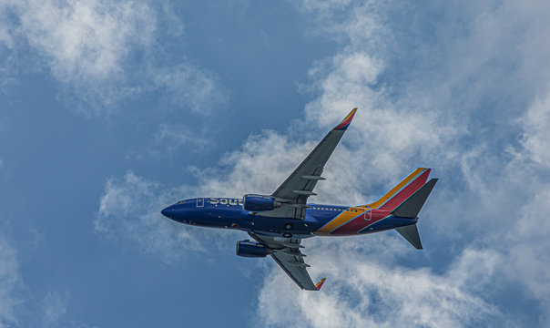 Southwest Airlines in Sky
