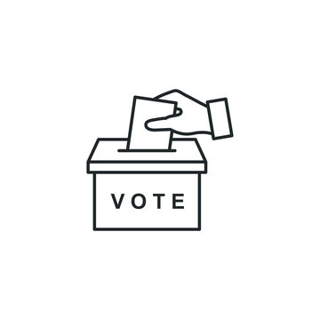 Election Vote concept icon template color editable. voting ballot box symbol vector sign isolated on white background illustration for graphic and web design.