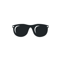Glasses black silhouette icon template color editable. Glasses symbol vector sign isolated on white background illustration for graphic and web design.