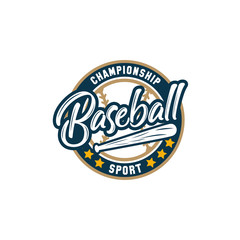 Baseball Logo Design Vector Template