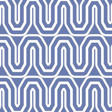 Blue zig zag striped background vector design
