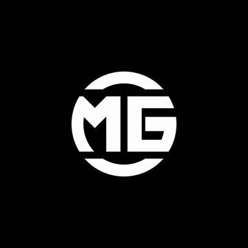 MG logo monogram isolated on circle element design template