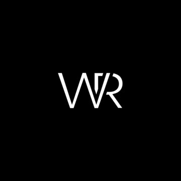 Modern unique minimal creative WR initial based letter icon logo