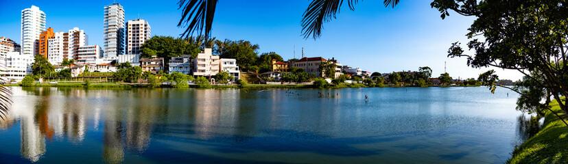 Paisagem da Logoa do Violão, cidade de Torres, estado do Rio Grande do Sul, Brasil