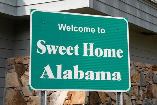 Alabama Sign at Welcome Center