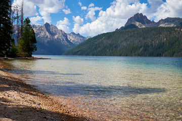 Sawtooth Mountains and Redfish Lake, Idaho, USA