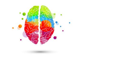 cervello, fantasia, colori Wall mural