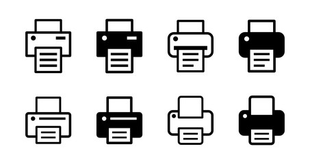 Obraz drukarka zestaw ikon - fototapety do salonu