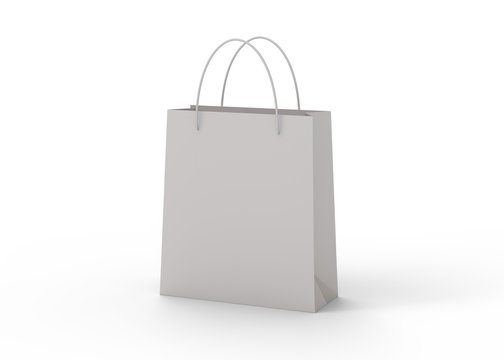 Shopping bag isolated on white background 3d rendering