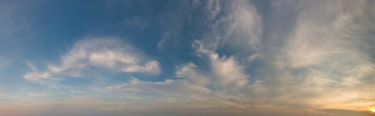 Fantastic clouds at sunrise Fotobehang